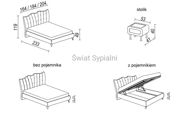 Genialny Łóżko PRINCESSA, tapicerowane, Stolwit - Świat Sypialni KH71