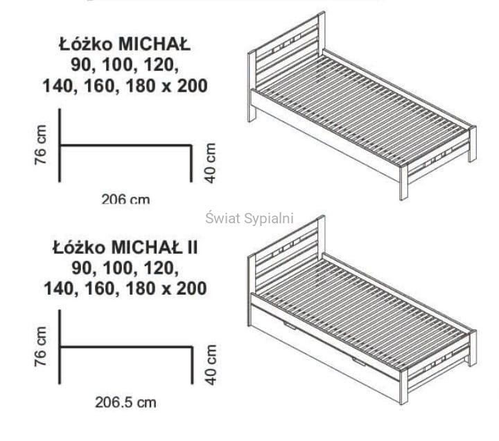 łóżko Michał Michał Ii Spar Meble