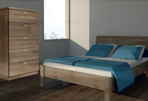 łóżko Calm Bukowe Bez Pojemnika